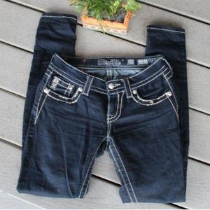 Miss me Dark Wash embellished Super skinny Jeans